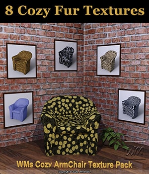 WMs Texture Pack for Cozy ArmChair 3D Figure Assets WiwimaX
