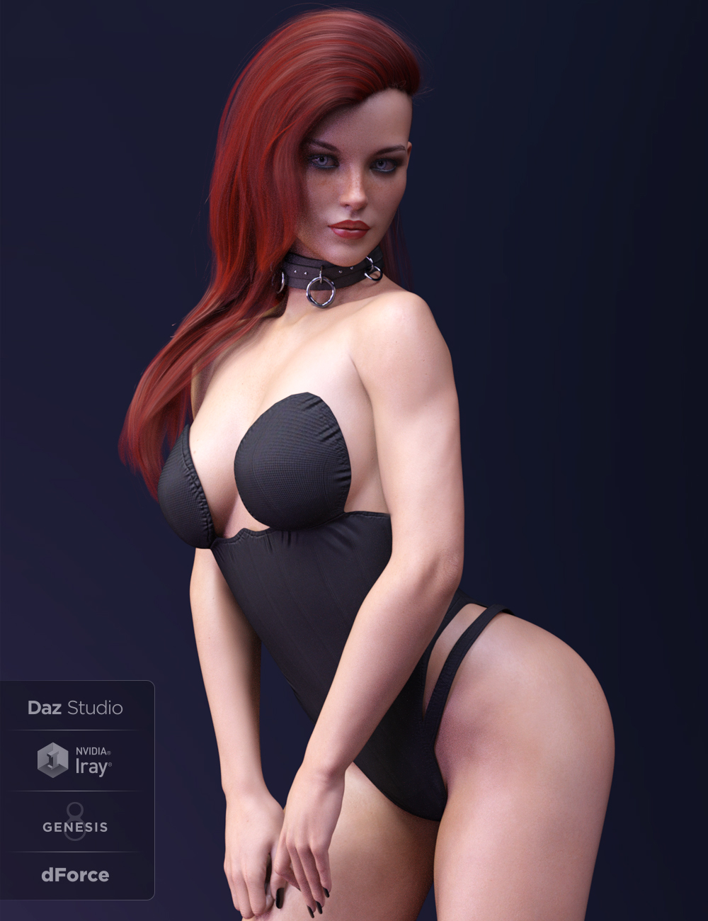 X-Fashion PrettyLittle Bodysuit for Genesis 8 Females