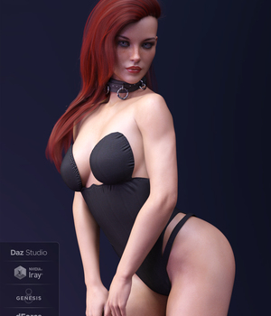 X-Fashion PrettyLittle Bodysuit for Genesis 8 Female(s) 3D Figure Assets xtrart-3d