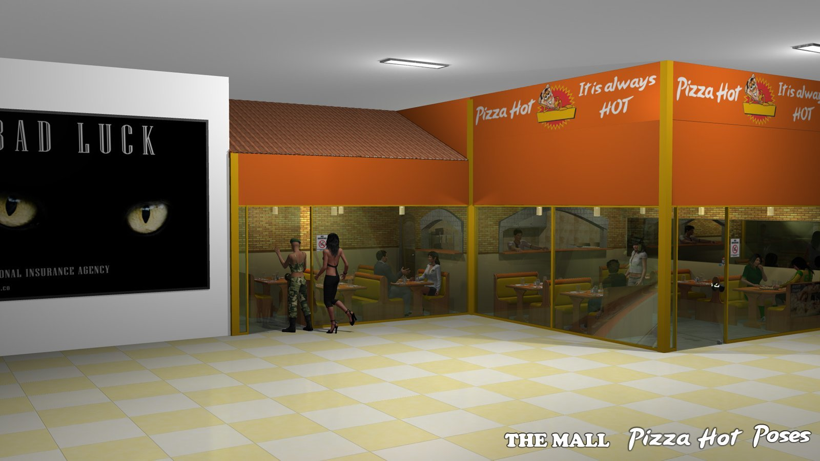 The Mall Pizza Hot Poses - Extended License