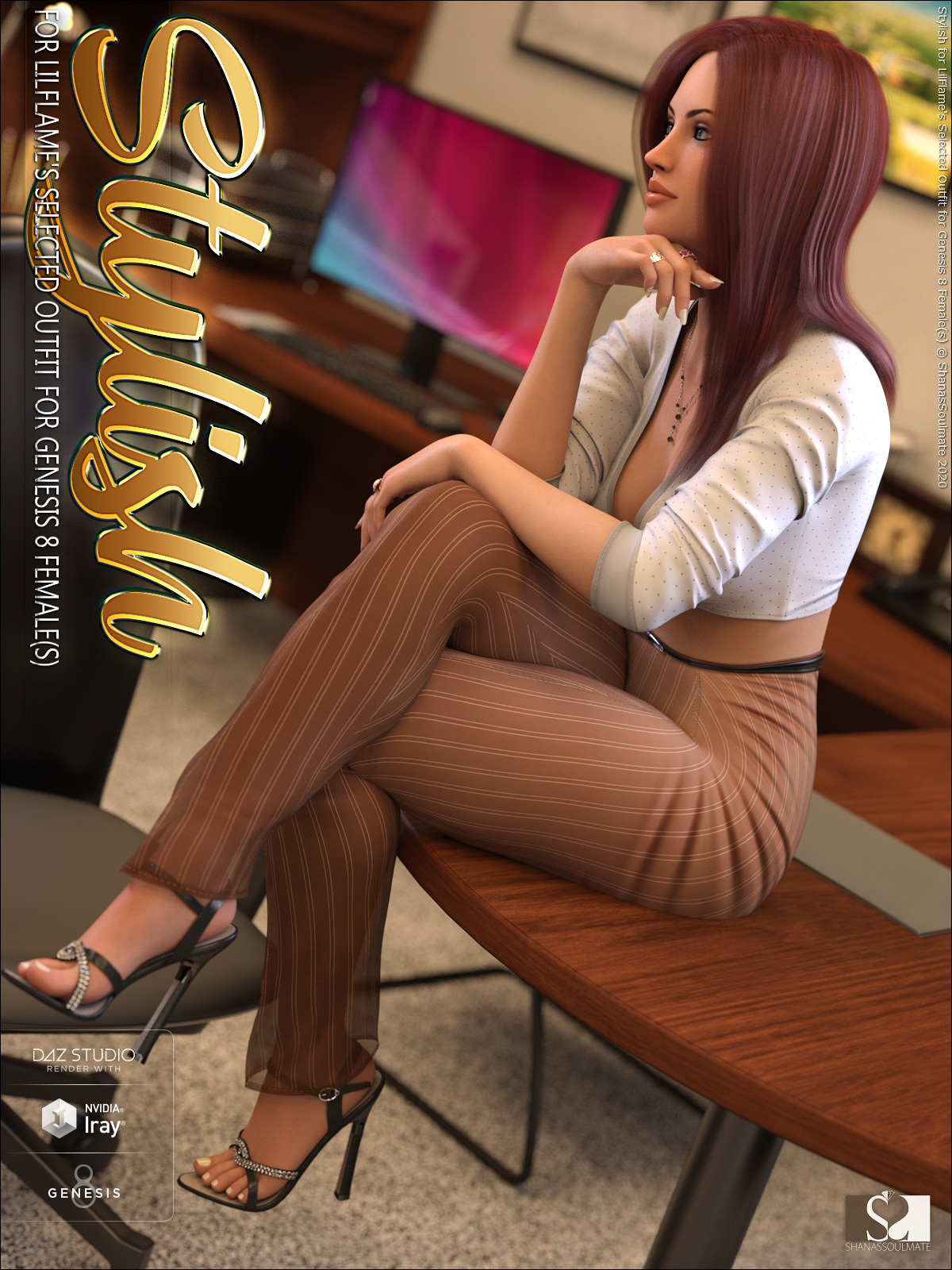 Stylish for dForce Selected Outfit for Genesis 8 Female(s) by ShanasSoulmate