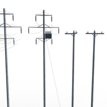 Photo Props: Electic Poles - Extended License image 1