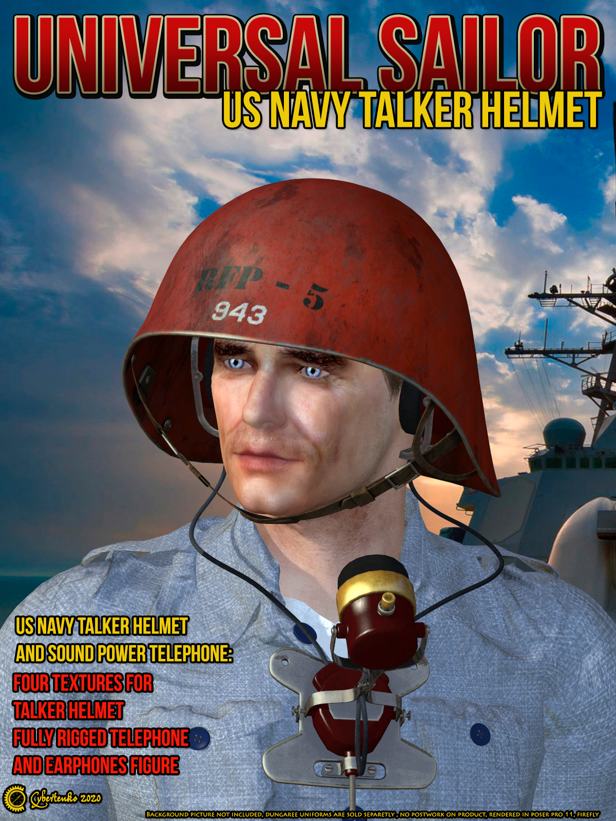 Universal Sailor - US Navy Talker Helmet by Cybertenko