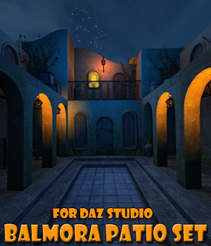 Balmora patio set for Daz Studio 3D Models 1971s