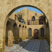 Balmora patio set for Daz Studio image 1