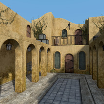 Balmora patio set for Daz Studio image 2