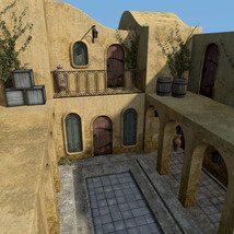 Balmora patio set for Daz Studio image 3