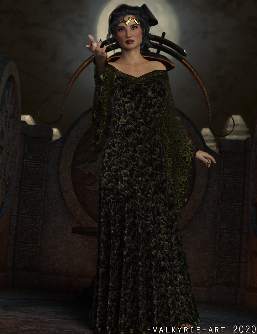 InStyle - dForce - Connie Long Gown by -Valkyrie-