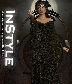 InStyle - dForce - Connie Long Gown 3D Figure Assets -Valkyrie-