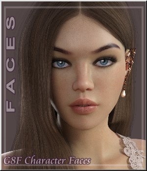 Faces - 6 Custom Morphs 3D Figure Assets LUNA3D