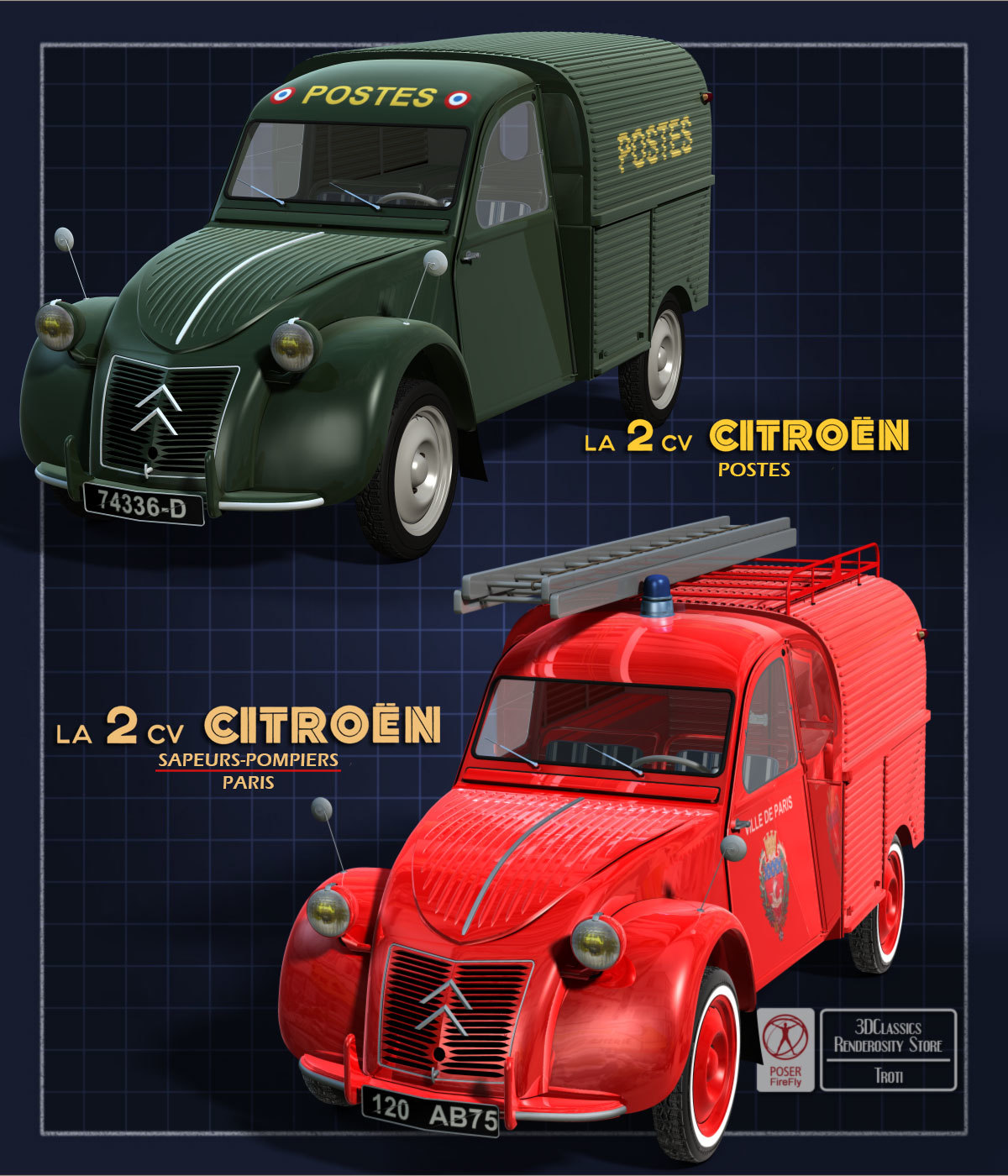 2CV FOURGONNETTE BUNDLE