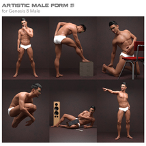 Artistic Male Form 5 for Genesis 8 Male image 1
