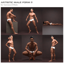 Artistic Male Form 5 for Genesis 8 Male image 2