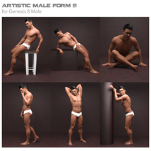 Artistic Male Form 5 for Genesis 8 Male image 4