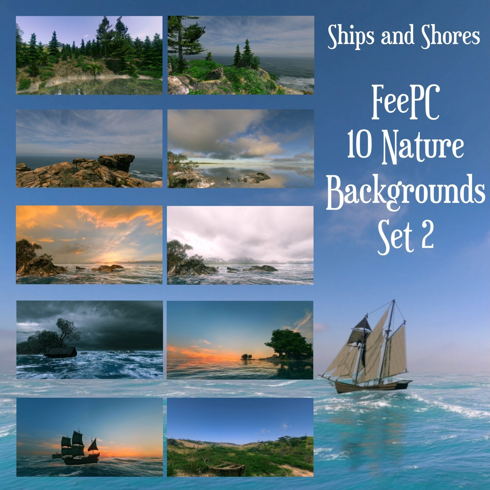 10 Ships and Shores Backgrounds by FeePC