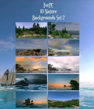 10 Ships and Shores Backgrounds 2D Graphics FeePC