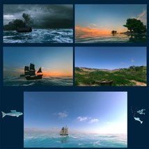 10 Ships and Shores Backgrounds image 3