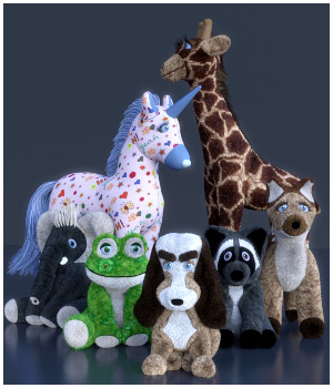 Stuffed Animals 3D Models RPublishing