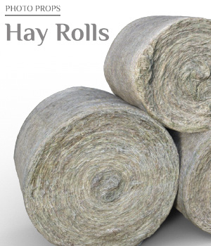 Photo Props: Hay Rolls - Extended License 3D Models Extended Licenses ShaaraMuse3D