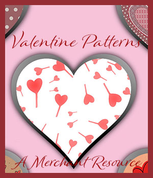 Seamless Valentine Patterns 2D Graphics Merchant Resources adarling97