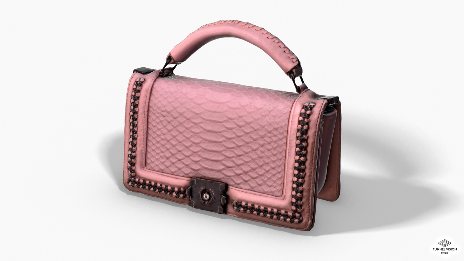 Pink Pochette - 3D Photoscanned PBR - Extended License