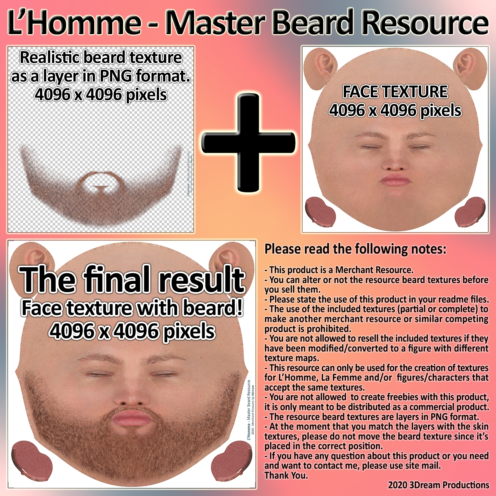 L'Homme - Master Beard Resource by 3Dream