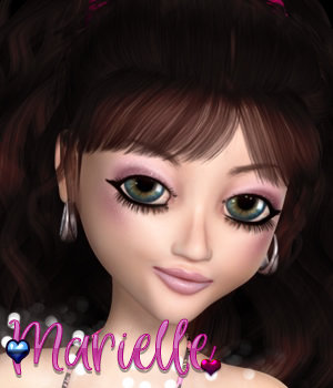 3DS Marielle for Maisie 3D Figure Assets 3DSublimeProductions