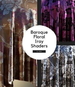 Baroque Floral Fabric Iray Shaders