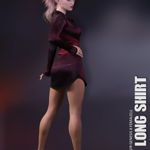 dForce XL Long Shirt for Genesis 8 Females image 4