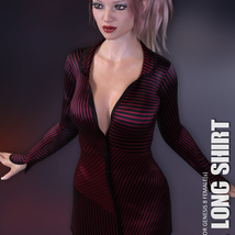dForce XL Long Shirt for Genesis 8 Females image 1