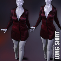 dForce XL Long Shirt for Genesis 8 Females image 6