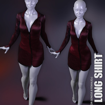 dForce XL Long Shirt for Genesis 8 Females image 7