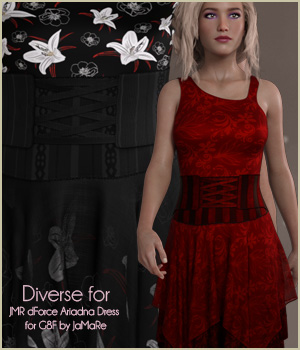 Diverse for Ariadna Dress 3D Figure Assets antje