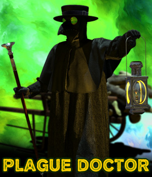 Plague Doctor 3D Figure Assets Cybertenko