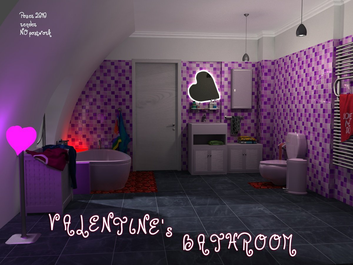 Valentine's Bathroom by greenpots