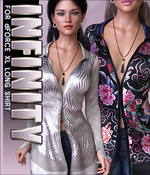 Infinity for dForce XL Long Shirt 3D Figure Assets Sveva