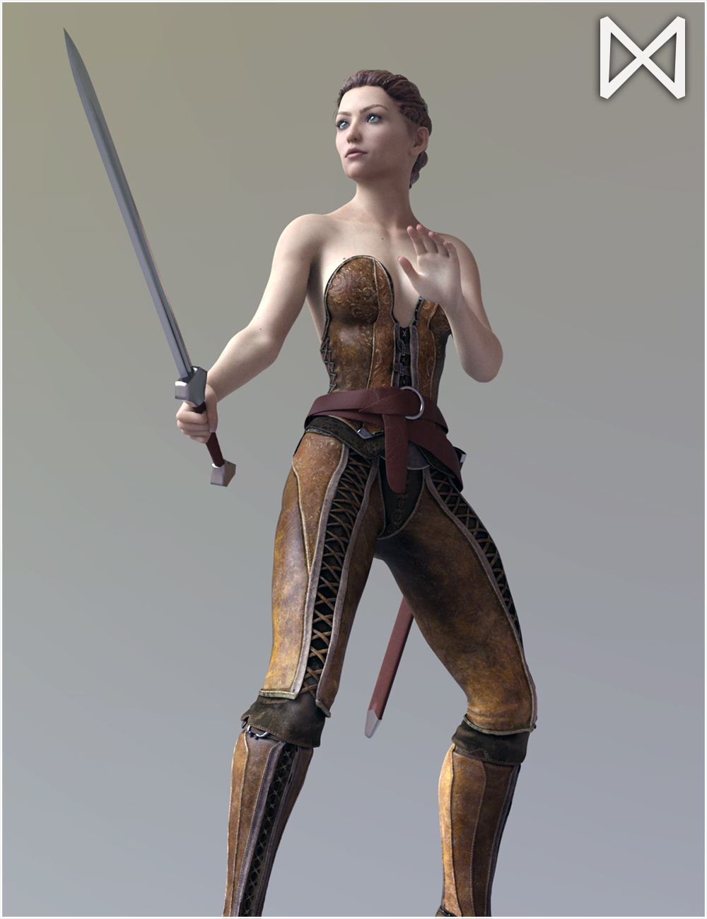 Fantasy Sword Poses for Genesis 8 Female by Dimensionarium
