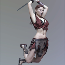 Fantasy Sword Poses for Genesis 8 Female image 5