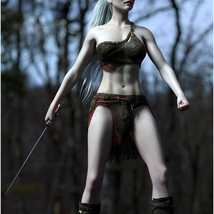 Fantasy Sword Poses for Genesis 8 Female image 6