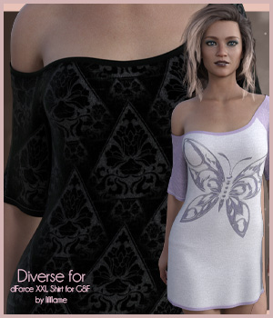 Diverse for XXL Shirt 3D Figure Assets antje