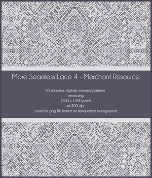 More Seamless Lace 4 - Merchant Resource 2D Graphics Merchant Resources antje