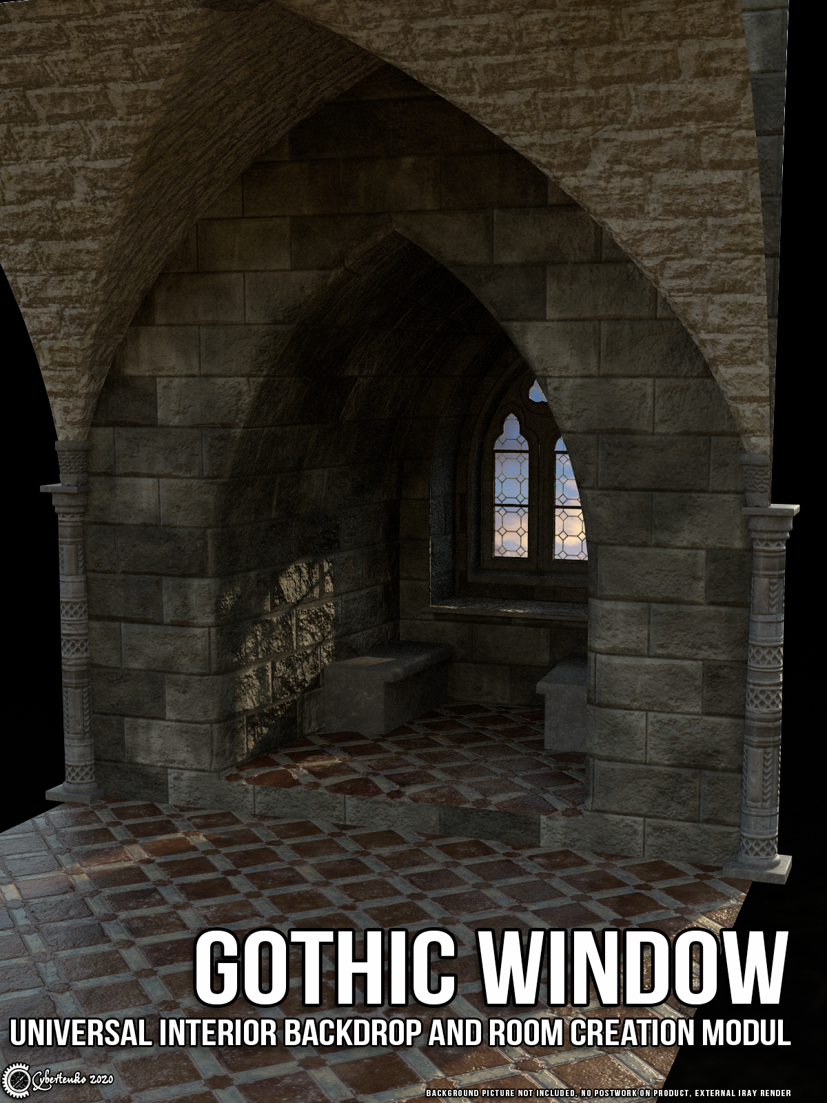 Gothic Window by Cybertenko