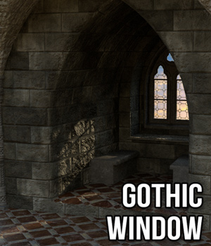 Gothic Window 3D Models Cybertenko