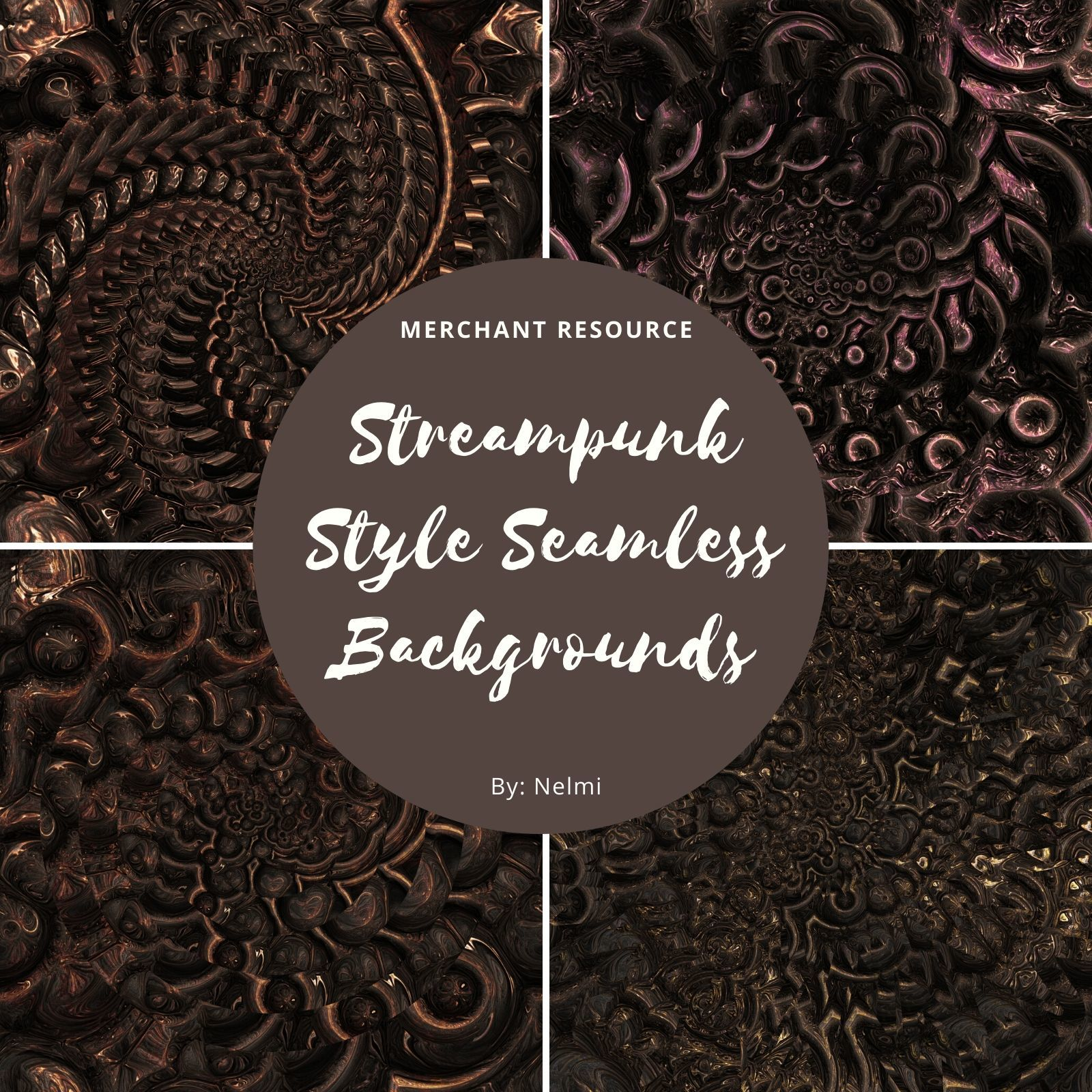 12 Steampunk Style Backgrounds by nelmi