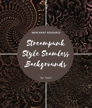 12 Steampunk Style Backgrounds 2D Graphics Merchant Resources nelmi