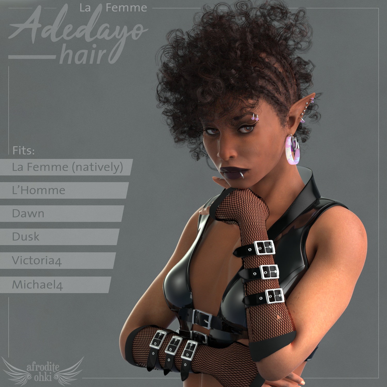Adedayo Hair for La Femme and more by Afrodite-Ohki