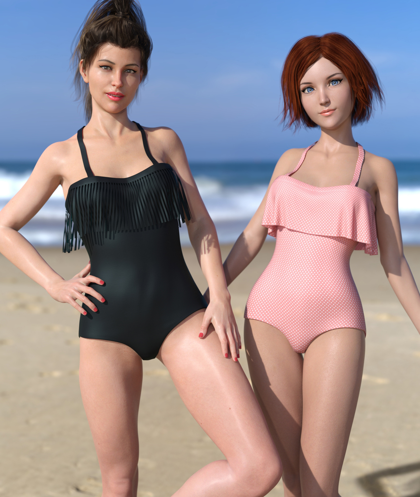 Frill n' Fringe Swimsuit for G8F by BubbleCloud