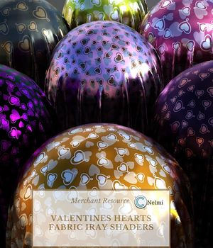 80 Valentines Hearts Fabric Iray Shaders 2D Graphics 3D Figure Assets Merchant Resources nelmi