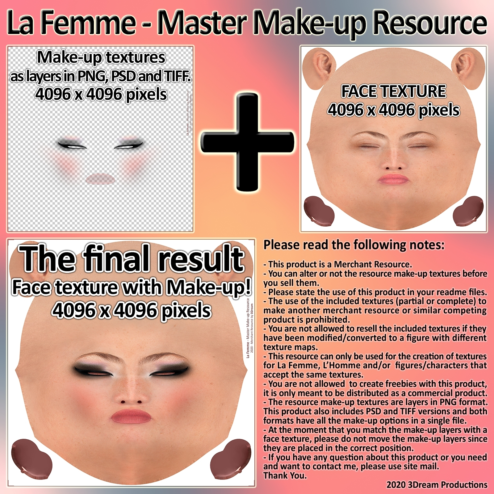 La Femme - Master Make-up Resource by 3Dream