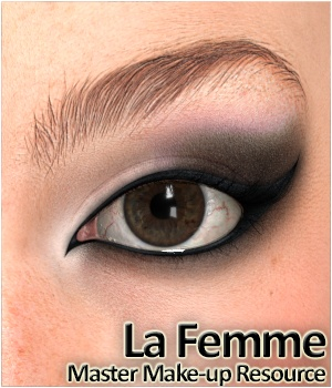 La Femme - Master Make-up Resource La Femme Pro - Female Poser Figure Merchant Resources 3Dream